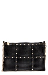 Whiting And Davis Studded Crossbody Clutch