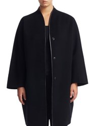 Marina Rinaldi Plus Size Short Wool Coat Black