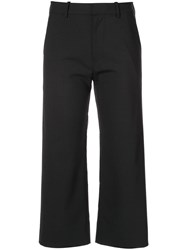 Co Cropped Trousers Black