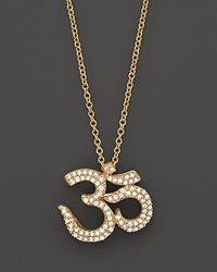 Bloomingdale's Diamond Ohm Pendant In 14K Yellow Gold .25 Ct. No Color