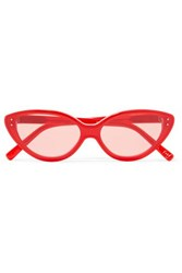 Elizabeth And James Frey Cat Eye Acetate Sunglasses Red