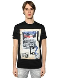 Dsquared Notebook Printed Cotton Jersey T Shirt