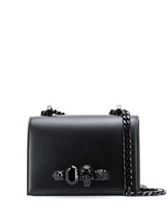 Alexander Mcqueen Skull Knuckle Duster Cross Body Bag Black