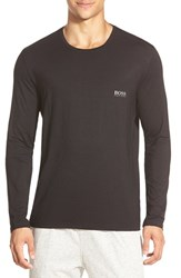 Men's Boss Stretch Modal Long Sleeve T Shirt Black
