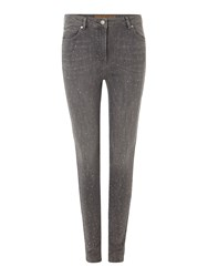 Biba Embellished Grey Wash Stevie Jeans Grey
