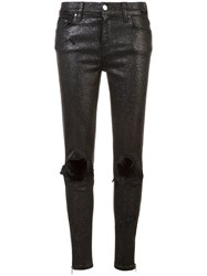 Amiri Slim Ripped Jeans Black