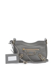 Balenciaga Classic Hip Leather Cross Body Bag Grey