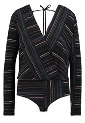 Bcbgeneration Long Sleeved Top Black Multi