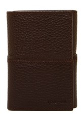 Cole Haan Pebble Leather Trifold Wallet Brown