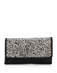 Adrianna Papell North Beaded Convertible Clutch Black Gold