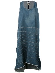 Comme Des Garcons Junya Watanabe Denim Shift Dress Women Cotton S Blue