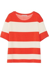 Acne Studios Wonder Stripe Stretch Cotton And Modal Blend T Shirt