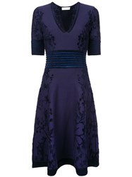 Yigal Azrouel Floral Patterned Knitted Dress Black