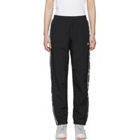 Champion Reverse Weave Black Stripe Track Pants