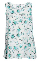 Evans Plus Size Ivory Floral Sleeveless Top