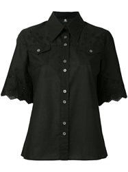 Paul Smith Ps By Shortsleeved Shirt Women Cotton 44 Black