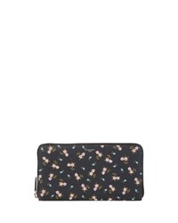 Givenchy Iconic Prints Zip Wallet Hibiscus Multi