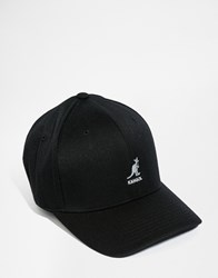 Kangol Wool Flex Fit Baseball Cap Black