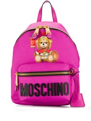 Moschino Teddy Backpack Pink