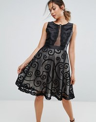 Amy Lynn Prom Dress With Brocade Detail Black