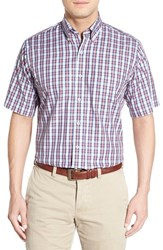 Men's Peter Millar 'Shadow Plaid' Regular Fit Sport Shirt