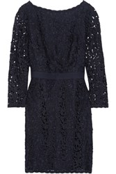 Tory Burch Renny Guipure Lace Mini Dress Midnight Blue