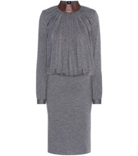 Tom Ford Wool Blend Dress Grey