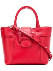 Tod's Double T Shopping Mini Bag Red