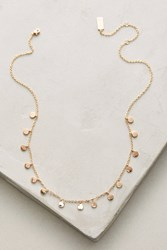 Anthropologie Delicate Discs Choker Necklace Gold