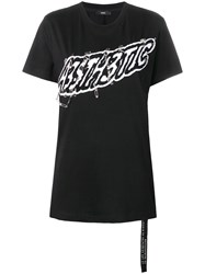 Diesel Aesthetic Safety Pin T Shirt Black