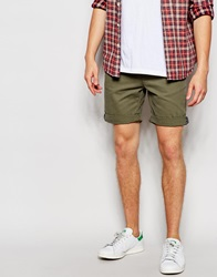 Bellfield Washed Canvas Jogger Shorts Brown