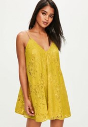 Missguided Yellow Gold Chain Swing Dress
