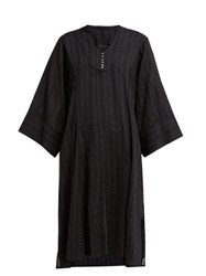 Loup Charmant Fez Stripe Woven Cotton Kaftan Black