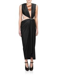 Lanvin Sleeveless Ruched Front Dress