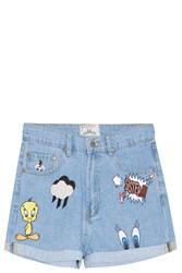 Paul And Joe Sister Looney Tunes Denim Shorts