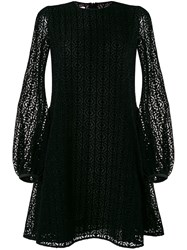 Giamba Lace Flared Dress Black