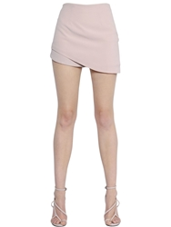 Haider Ackermann Asymmetrical Viscose Crepe Skort Light Pink