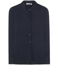 Vince Silk Shirt Blue