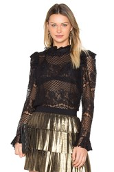 Bcbgmaxazria Kenzie Lace Top Black