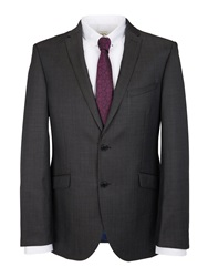 Paul Costelloe Glossy Micro Dot Slim Fit Suit Jacket Charcoal