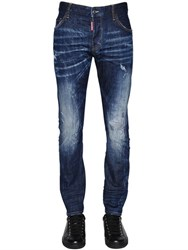 Dsquared 16.5Cm M.Buble Faded Stretch Denim Jeans