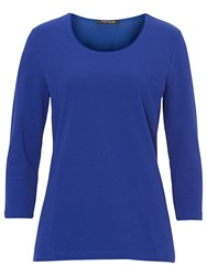 Betty Barclay Basic Three Quarter Length Sleeve T Shirt Electric Blue