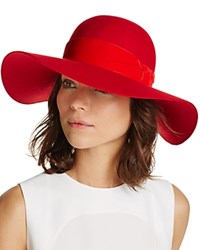 Aqua Velvet Trim Floppy Hat Red