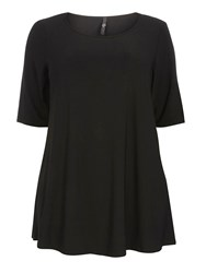 Evans Black Side Split Jersey Top
