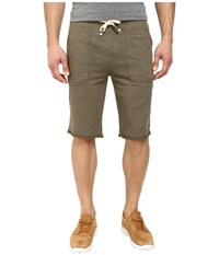 Buffalo David Bitton Fiqin Med Sweat Slub French Terry Short Heather Army Green Combo Men's Shorts Gray