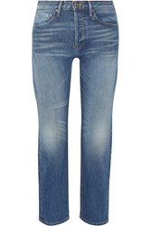 Frame Rigid Re Release Le Original High Rise Straight Leg Jeans Mid Denim