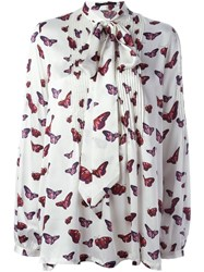Sly010 Butterfly Print Blouse Nude And Neutrals