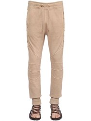 Balmain Lace Up Cotton Jersey Jogging Pants