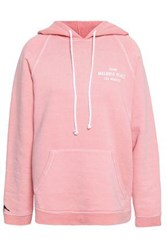 Frame Printed French Cotton Terry Hooded Sweatshirt Baby Pink