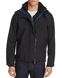 Superdry Nylon Hooded Zip Front Jacket Black